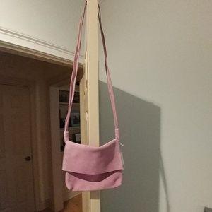Lilac suede bag
